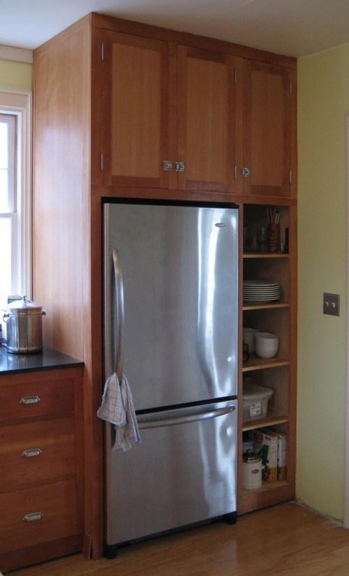 my fridge with cabinets around it kitchens pinterest