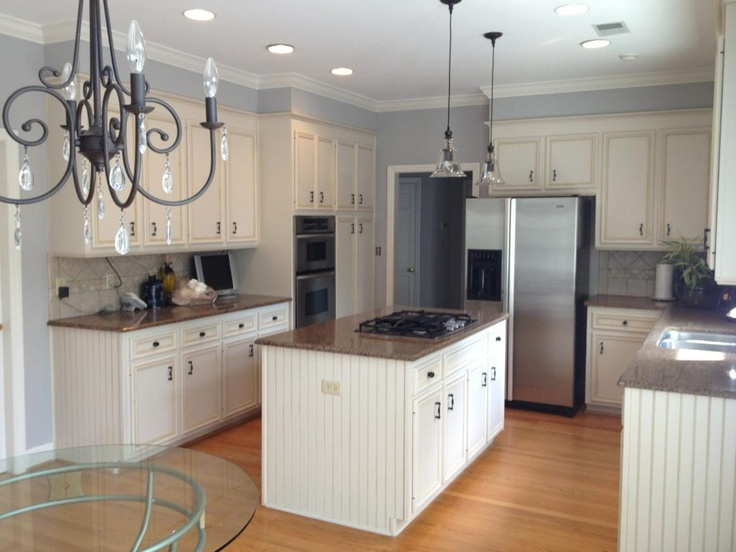 Painted Kitchen The Gray Is Sherwin Williams Knitting Needles
