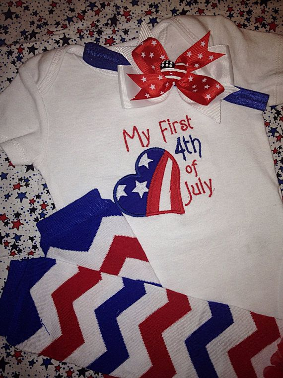 baby girl 4th of july onesie