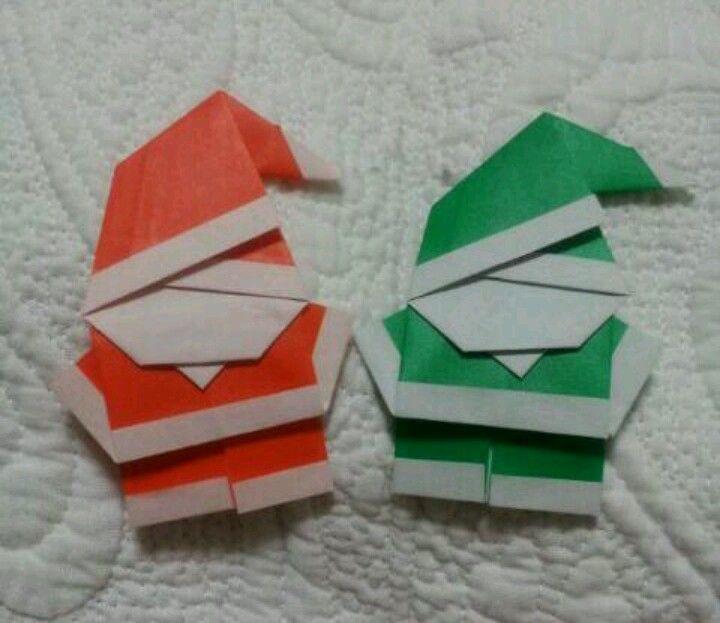 origami santa paper origami pinterest