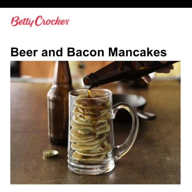 Beer And Bacon Mancakes Recipe — Dishmaps