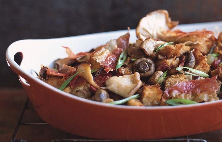 Three-Mushroom Dressing with Prosciutto - Bon Appétit
