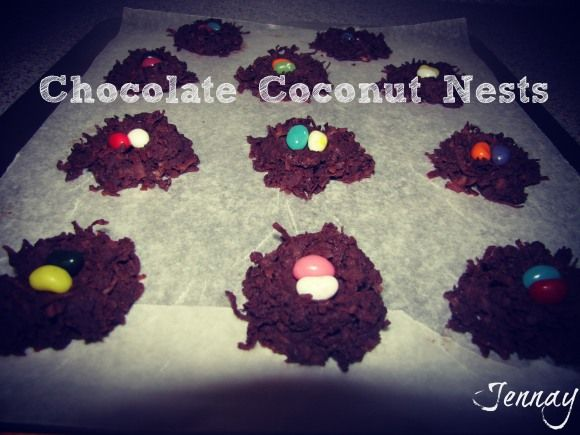 Chocolate Coconut Nests | Easter | Pinterest