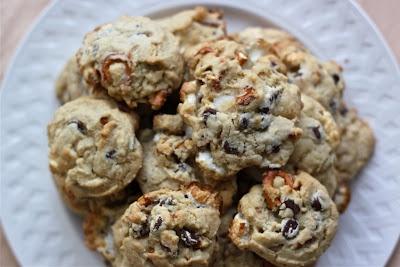 Kitchen sink chocolate chip cookies.