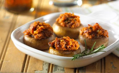 Heinz® Ketchup Recipe, Spicy Sausage-Stuffed Mushrooms