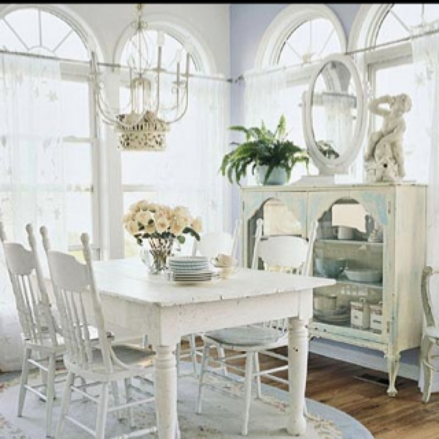 Shabby chic dining room decor to adore pinterest - Shabby chic dining rooms ...