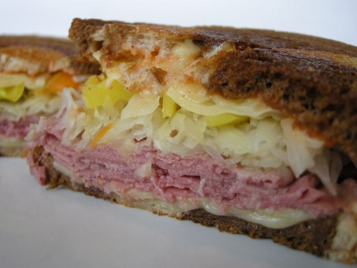 Reuben Sandwich--with corned beef and cabbage
