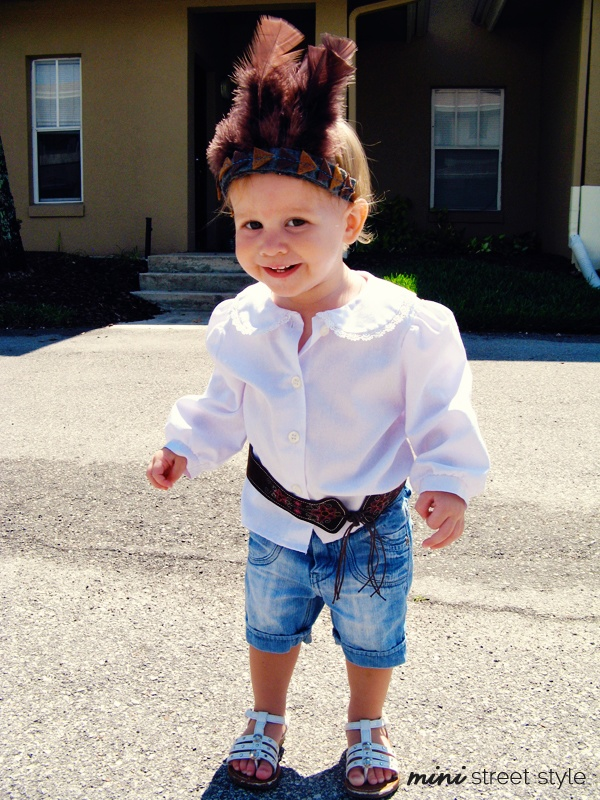 Mini Street Style #81// via Baby Blackbird // Toddler outfit mix of thrifted, vintage and handmade