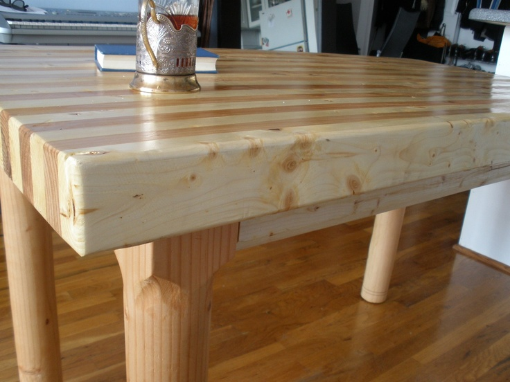 Dining table furniture butcher board dining table - Butcher block kitchen table set ...