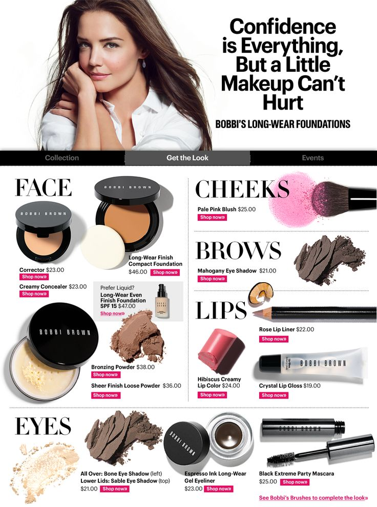 Katie Holmesu0026#39; Bobbi Brown makeup : Beauty File: Inspirational Looks ...