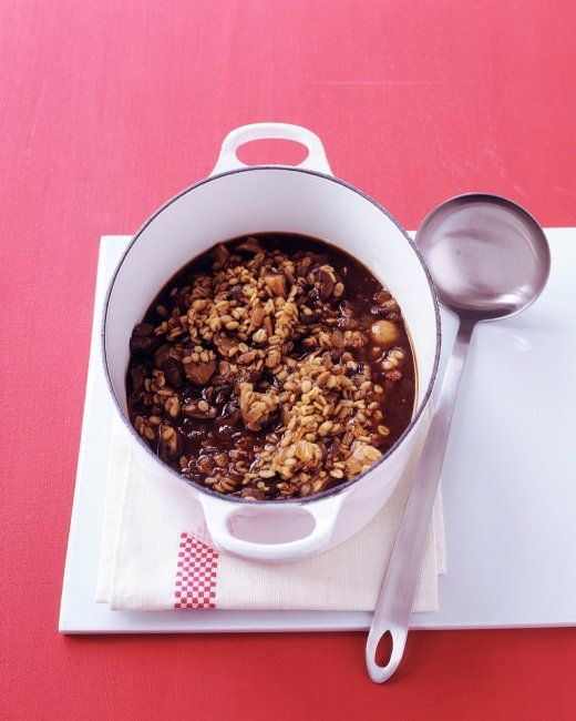 Mushroom-Barley Soup Recipe — Dishmaps