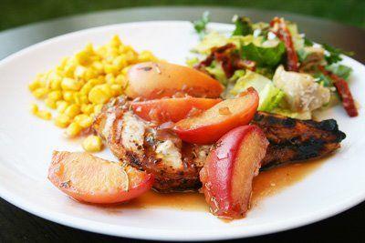 ... pork chops pork chops pork chops with peaches bourbon and basil