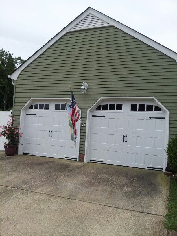 Our carriage style double garage doors the quot carriage quot style look