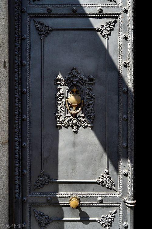 Beautiful gray door