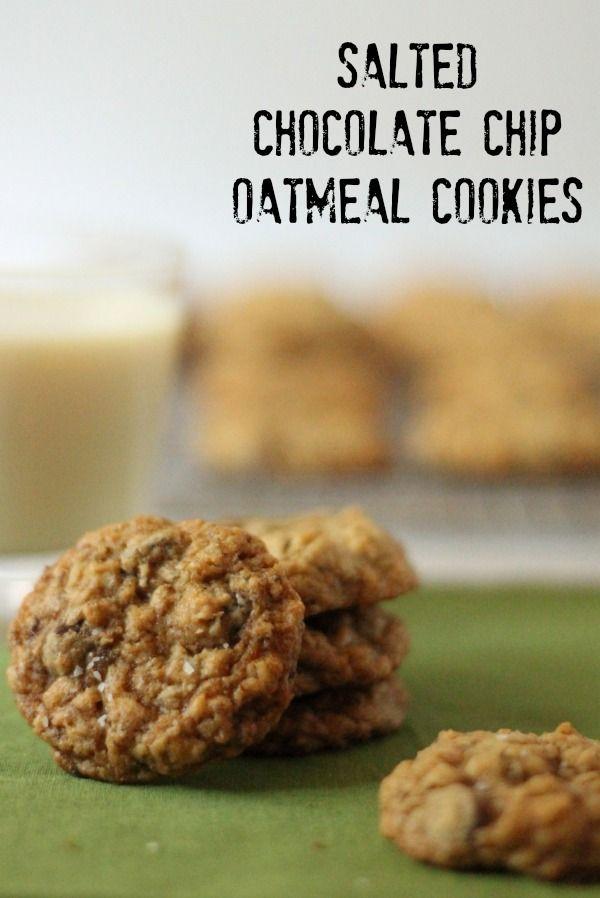Salted Chocolate Chip Oatmeal Cookies -   Vegan Cookies, Bars and Pie ...