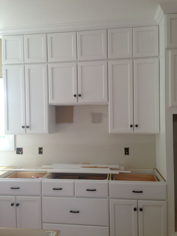 Kitchen with stacked white cabinets great kitchens pinterest - Kitchen images with white cabinets ...