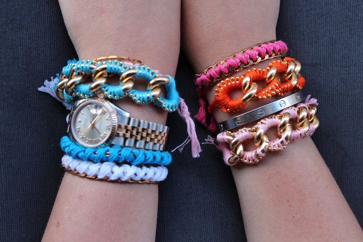 DIY:  Chunky Link Ball Chain Friendship Bracelets