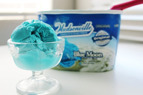 Blue Moon ice cream | Blue Food | Pinterest