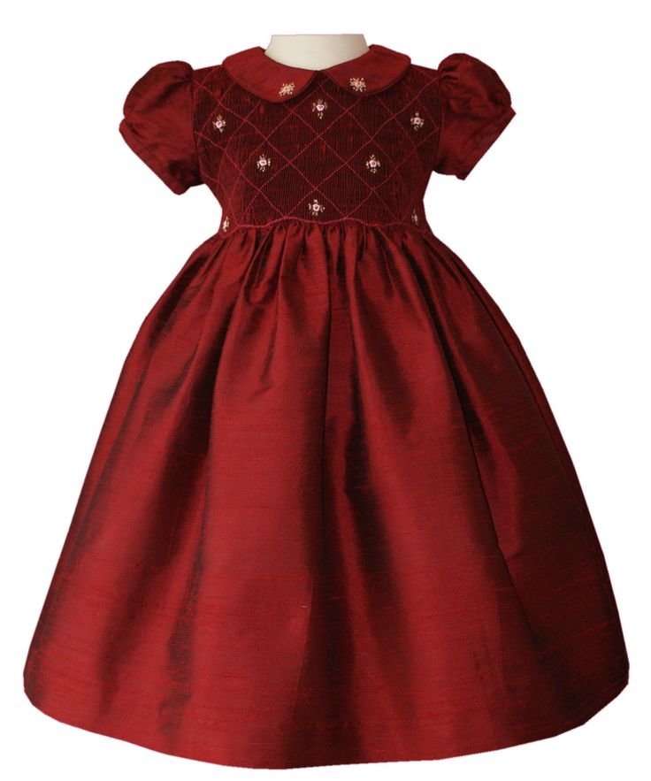 Girls pageant red silk dress christmas girls dresses pinterest