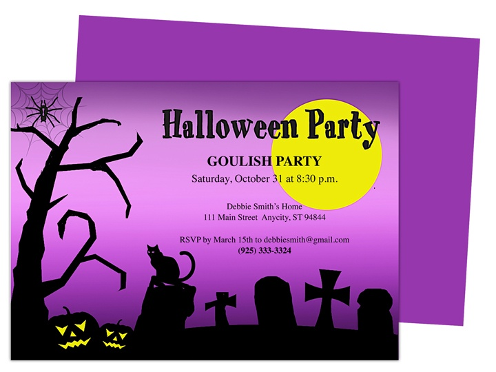 halloween party invite vector