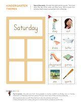 """Great days of the week activity worksheets for kids. Help your child create his own """"picture schedule."""""""