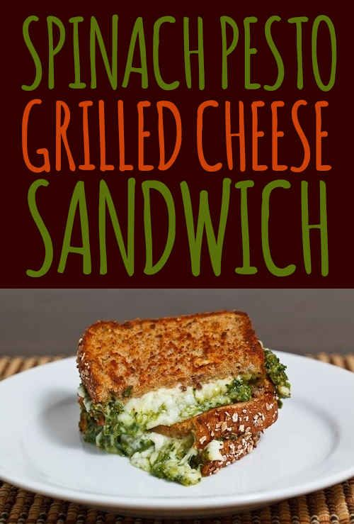 Spinach Pesto Grilled Cheese Sandwich! #comfortfood
