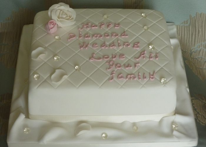 Cake Designs For Diamond Wedding : Diamond Wedding Anniversary Cake Cakes 2 Pinterest