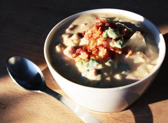 Baked Potato Soup With Bacon, Green Onion & Cheddar   Recipe