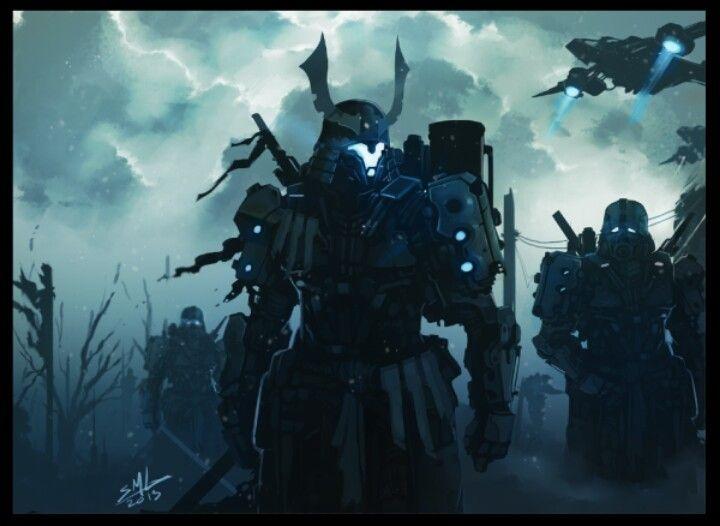 Cool future samurai guy robot thing | Cool/wallpaper ...