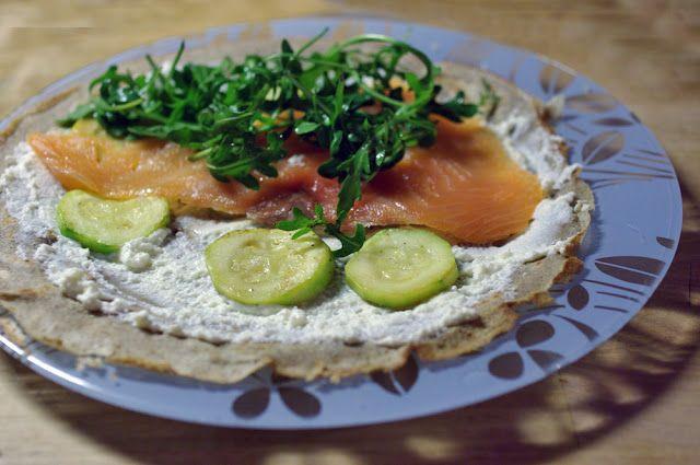 The Wandering Girl: Buckwheat pancakes with smoked salmon, arugula ...