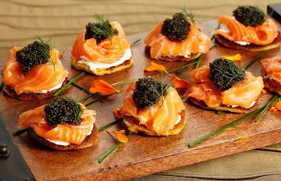 Blini with Smoked Salmon & Caviar | Foodie | Pinterest