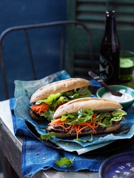 Lemongrass pork banh mi. You can find amazing organic ones at the ...
