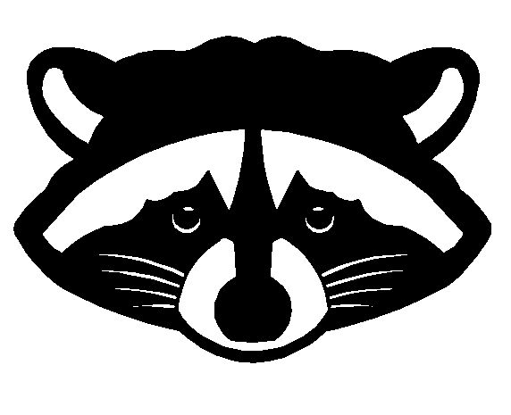 Raccoon - Click Image to Close | Craft robo | Pinterest Raccoon Face Clip Art Black And White