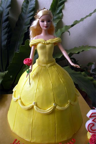 Belle Doll Cake by specialcakes/tracey, via Flickr