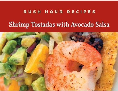 Shrimp Tostadas with Avocado Salsa | Community Food Co-op