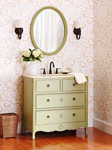 Turn A Dresser Into A Bathroom Vanity Bathroom Ideas Pinterest
