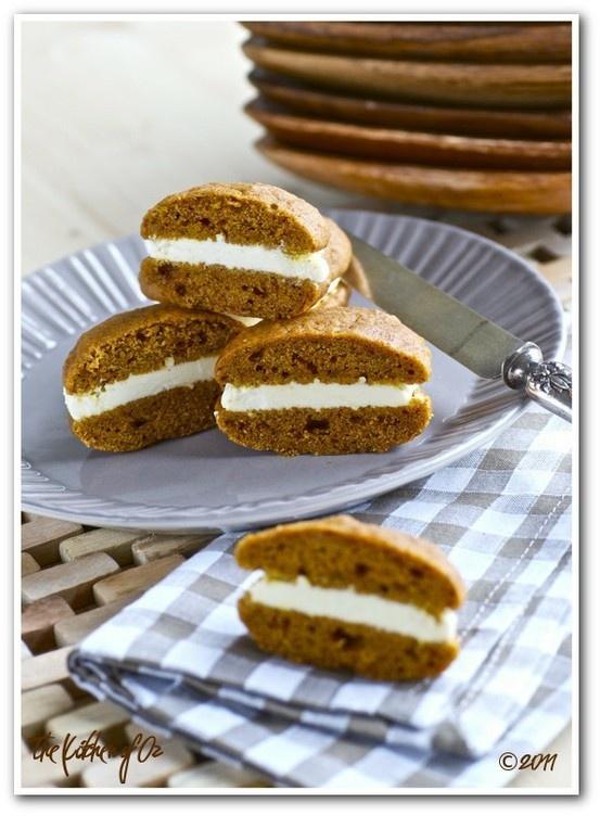 pumpkin whoopie pies...whoopie! | Fall/ Thanksgiving | Pinterest