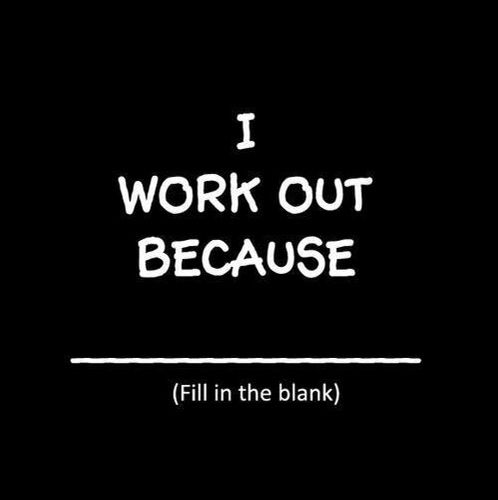 Why do you work out exercise motivation pinterest
