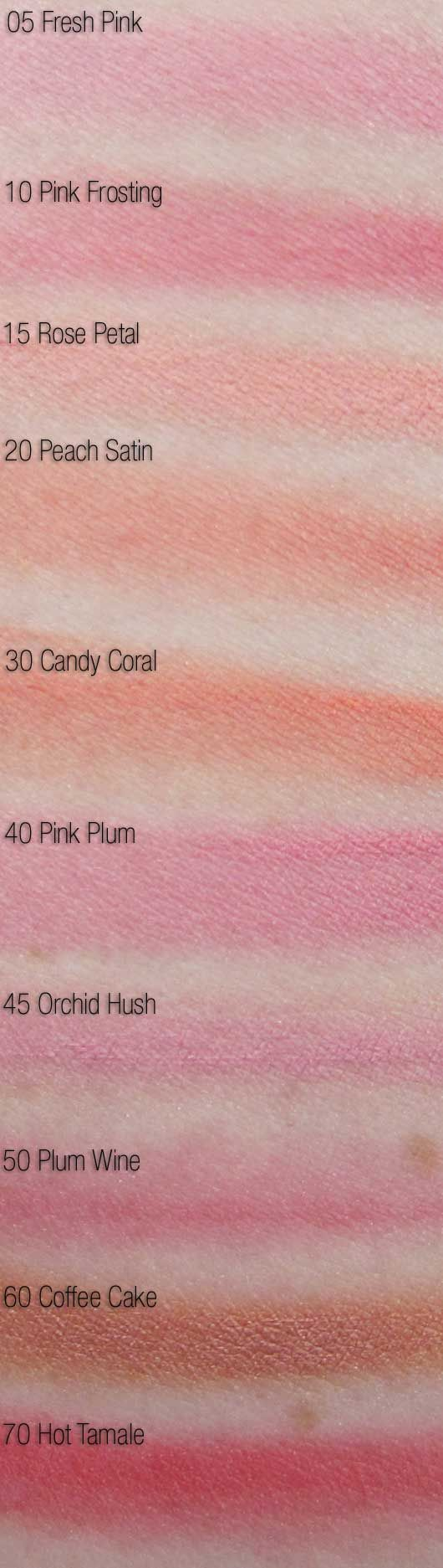 maybelline dream bouncy blush swatches