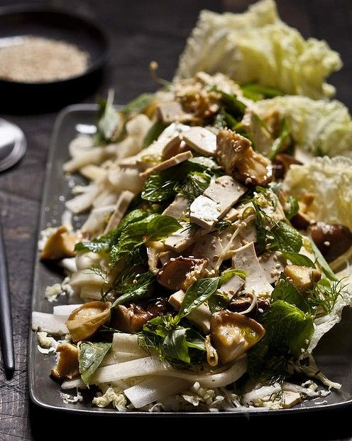 Chinese cabbage, shiitake and tofu salad | Versatile Vegetables, Spic ...