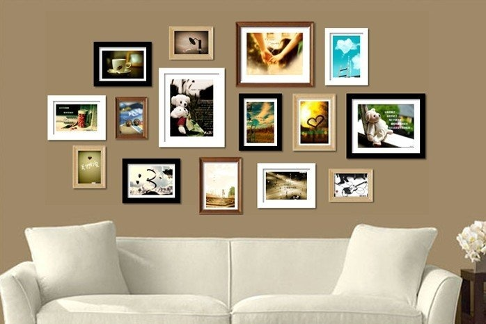 Different take on the picture frame wall...