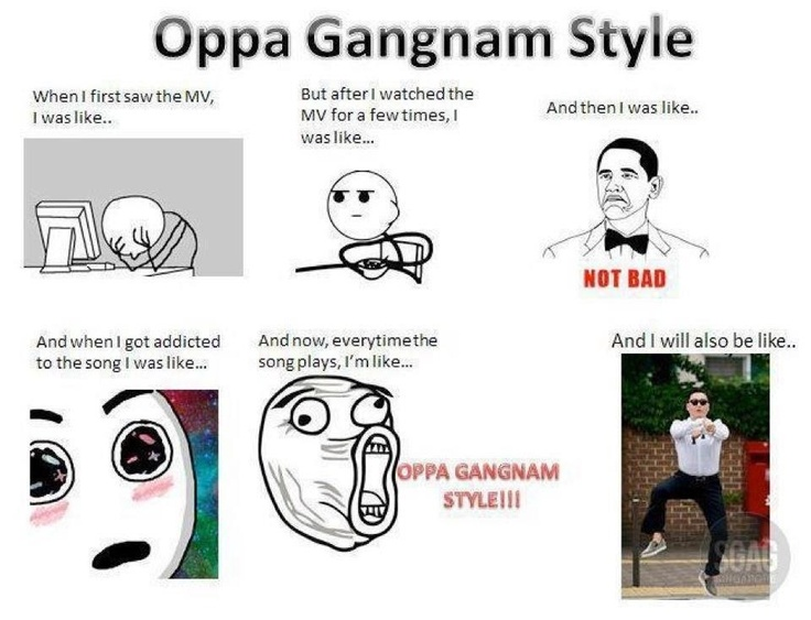 "gangnam style is a part of Even if you still haven't heard ""gangnam style"",  best 6th part 1  listeners will understand that psy isn't poking fun of actual gangnam locals."