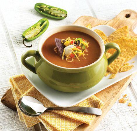 Tortilla Soup- vitamix | Soups and Stews | Pinterest