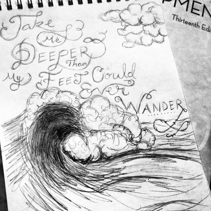 Sketch and quote, wave...