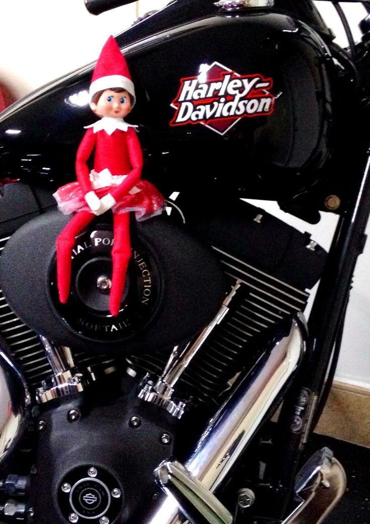 Elf on the Shelf - Charlie on a Harley!   Elf on the Shelf   Pinterest
