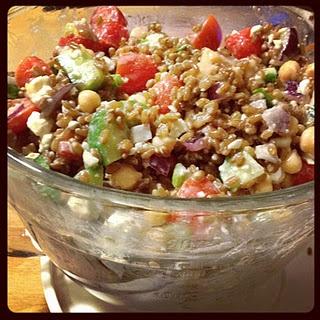 Wheat Berry Greek Salad | Side Dishes | Pinterest
