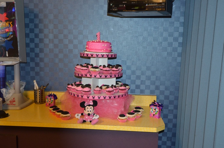 Minnie Mouse 1st Birthday Cake Stand Image Inspiration of Cake