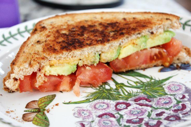 Tomato Avocado & Vegemite Grilled Cheese Sandwich | The Pescetarian ...