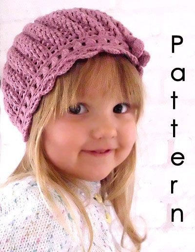 Crochet Pattern For Toddler Beret : fancy baby crochet hat beret PDF pattern (for 2-3 years old)