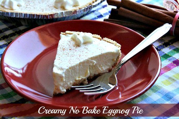 Creamy No Bake Eggnog Pie | pies, tarts & flans | Pinterest